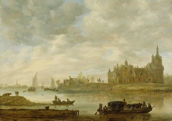Castles Painting - View Of The Castle Of Wijk At Duurstede by Jan van Goyen