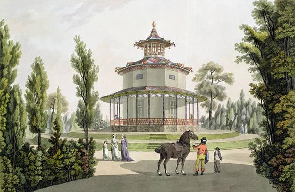 Schloss Wall Art - Drawing - View Of The Chinese Summer House by Laurenz Janscha