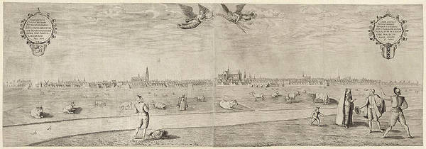 Wall Art - Drawing - View Of The City Of Amsterdam, Taken From The West by Litz Collection