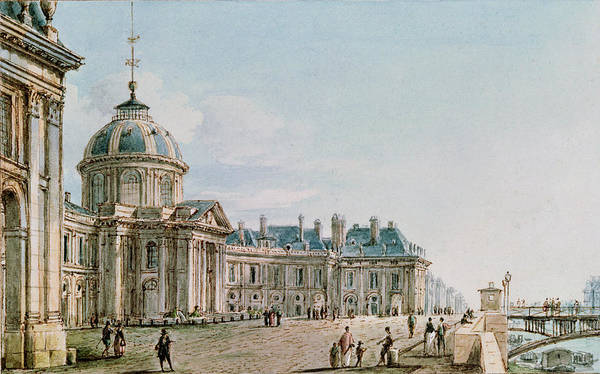 Palais Photograph - View Of The College Des Quatre Nations, Paris, C.1810 Wc On Paper by Victor Jean Nicolle
