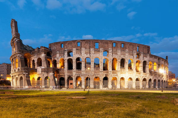 Coliseum Photograph - View Of The Colosseum by Fabrizio Troiani