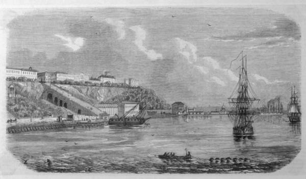 Ukraine Drawing - View Of The Commercial Quay At Odessa by Mary Evans Picture Library