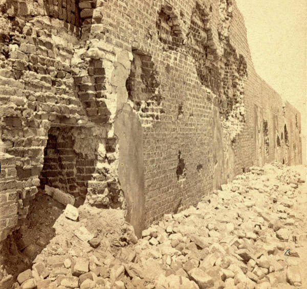 Fort Sumpter Photograph - View Of The East Face Of Fort Sumpter I.e by Litz Collection