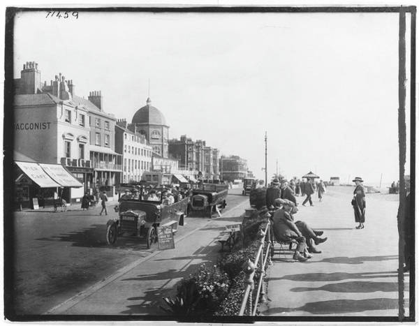 Charabanc Photograph - View Of The East Parade At Worthing by Mary Evans Picture Library