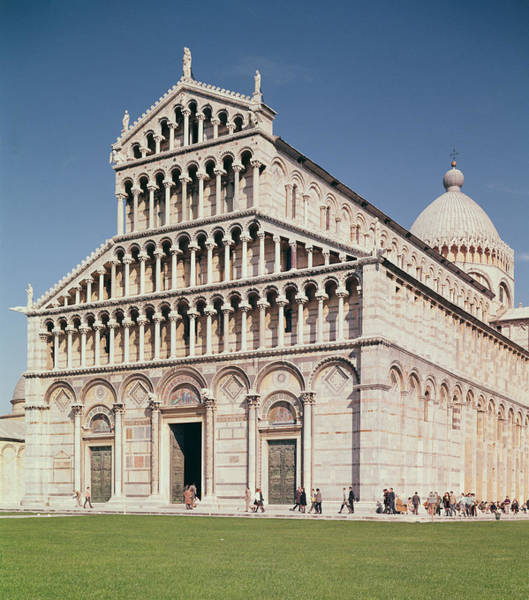 Duomo Photograph - View Of The Facade Of The Cathedral, Completed In 1063 Photo by Buscheto