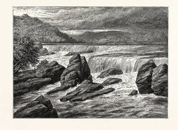 Minnesota Drawing - View Of The Falls Of St by American School