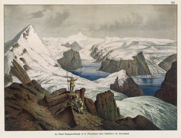 Fjord Drawing - View Of The Franz Josef Fjord (named by Mary Evans Picture Library