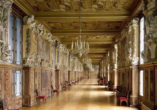 Wall Art - Photograph - View Of The Galerie Francois I by French School