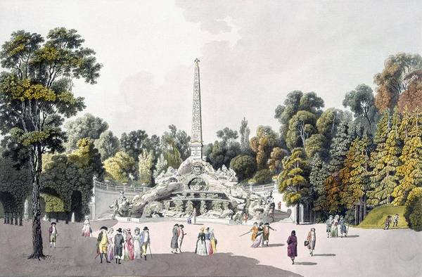 Palace Drawing - View Of The Garden At The Palace by Laurenz Janscha