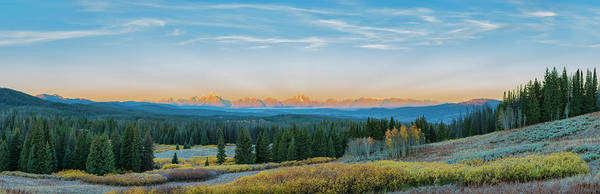 View Of The Grand Teton Mountains Art Print by Richard and Susan Day