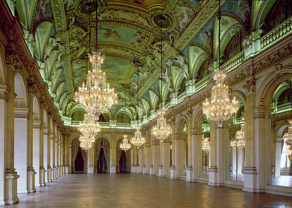 Colonnade Photograph - View Of The Grande Salle Des Fetes by French School