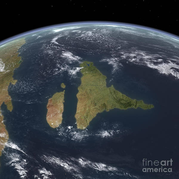 Merge Digital Art - View Of The Indian Subcontinent by Walter Myers