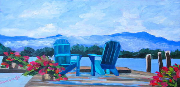 Adirondack Mountains Painting - View Of The Lake by Rebecca Croft