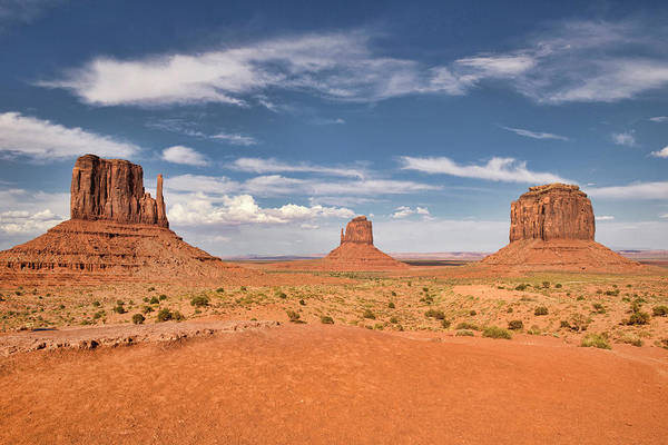 The Mitten Photograph - View Of The Mittens, Monument Valley by Dave Stamboulis Travel Photography