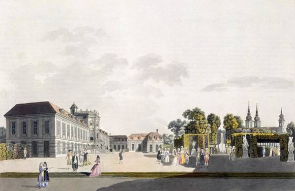 Palace Drawing - View Of The Palace And Gardens Owned by Laurenz Janscha