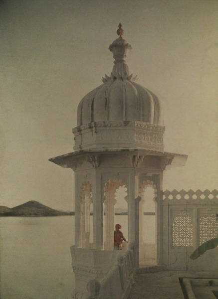 Wall Art - Photograph - View Of The Palace Of Maharajas Pond by Gervais Courtellemont