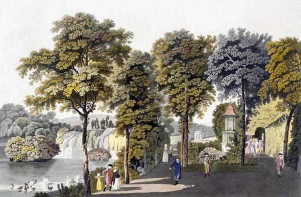 Wetland Drawing - View Of The Park At Neu-waldeg by Laurenz Janscha