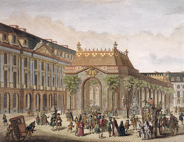 Decorative Drawing - View Of The Place De Louis Le Grand by French School