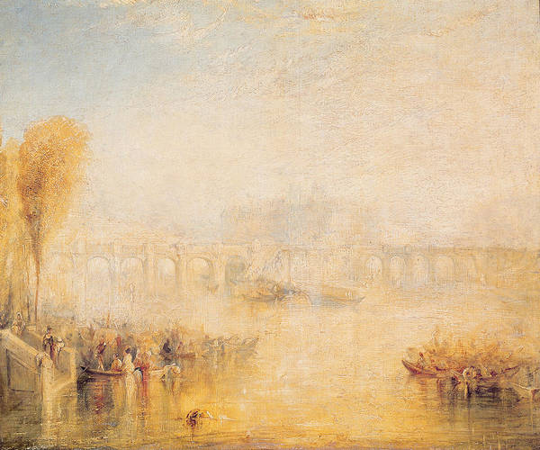 Rowing Wall Art - Photograph - View Of The Pont Neuf, Paris Oil On Canvas by Joseph Mallord William Turner