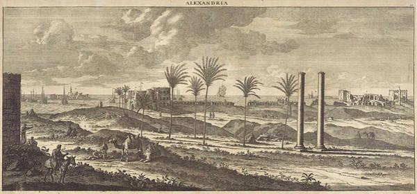 Hoof Drawing - View Of The Port Of Alexandria, Egypt, Print Maker Jan by Jan Luyken And Pieter Schenk I And Cornelis De Bruyn