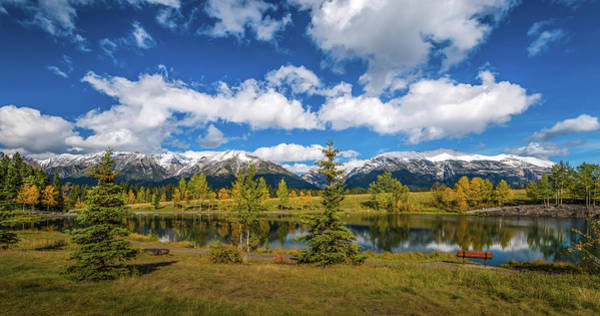 Canmore Wall Art - Photograph - View Of The Quarry Lake Recreation by Panoramic Images