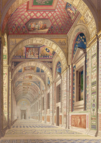 Renaissance Drawing - View Of The Second Floor Loggia by Italian School