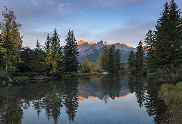 Canmore Photograph - View Of The Spring Creek Pond by Panoramic Images
