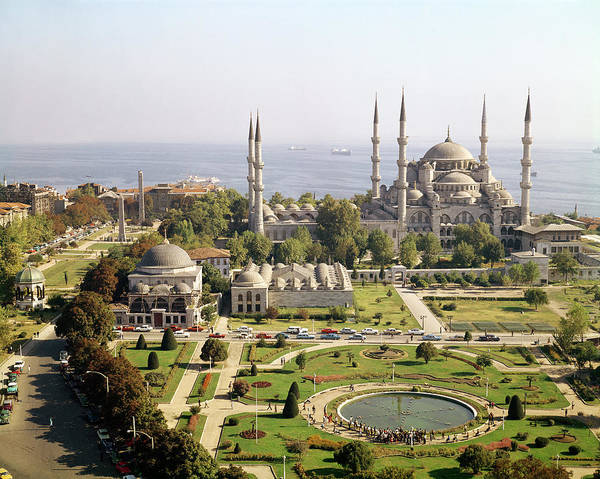 Minarets Photograph - View Of The Sultan Ahmet Camii Blue Mosque Built 1609-16 Photo by Mehmet Aga