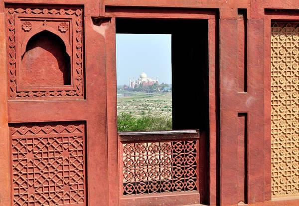 Roxbury Wall Art - Photograph - View Of The Taj Mahal by Steve Roxbury