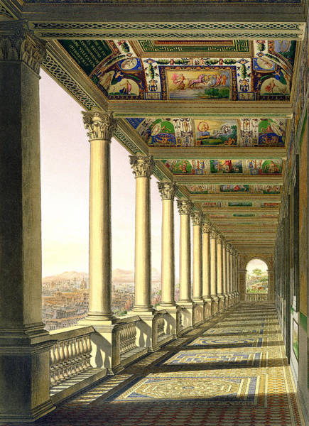 Renaissance Drawing - View Of The Third Floor Loggia by Italian School