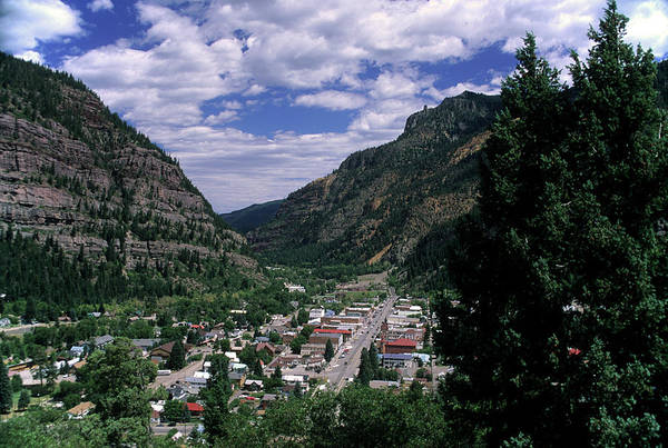 Wall Art - Photograph - View Of The Town Ouray Colorado Usa by Richard Durnan