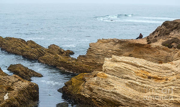 Montana State Photograph - View Of Time - The Jagged Rocks And Cliffs Of Montana De Oro State Park by Jamie Pham