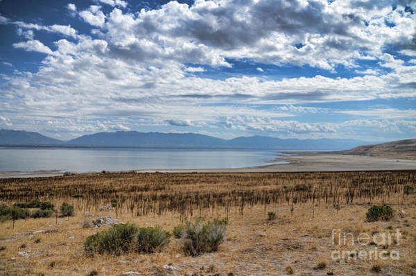 Photograph - View Of Wasatch Range From Antelope Island by Donna Greene