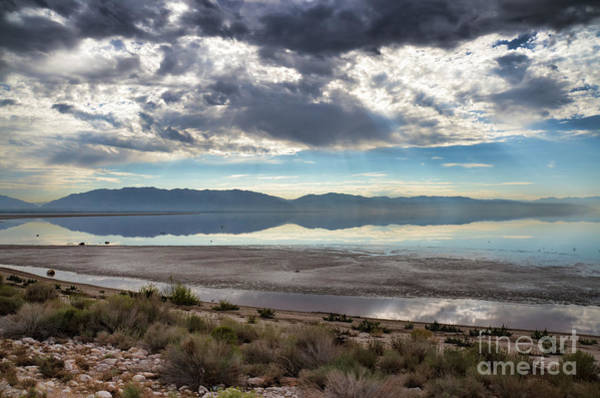 Photograph - View Of Wasatch Range From Antelope Island II by Donna Greene