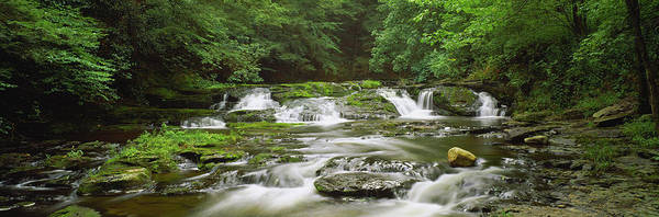 Poconos Wall Art - Photograph - View Of Waterfalls In A River, Dingmans by Panoramic Images