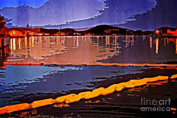 Photograph - View Of Yokosuka Bay From Verny Park At Night by Beverly Claire Kaiya