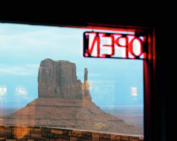 The Mitten Photograph - View Om Monument Valley Scene Through by Gary Yeowell