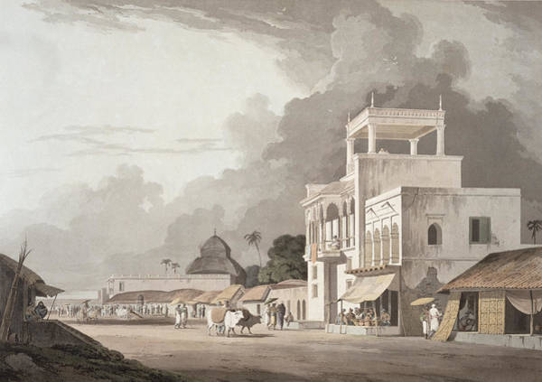 India Drawing - View On The Chitpore Road, Calcutta by Thomas Daniell