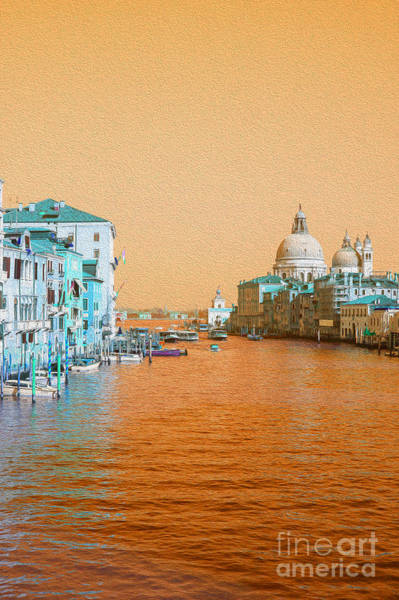 Venetian Digital Art - View On The Grand Canal In Venice  by Patricia Hofmeester