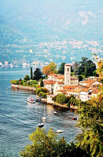 Villa Photograph - View On Torno Village, Lake Como, Italy by Anouchka