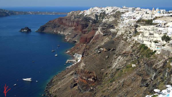 Photograph - View Over Ia Village Santorini Greece by Colette V Hera  Guggenheim