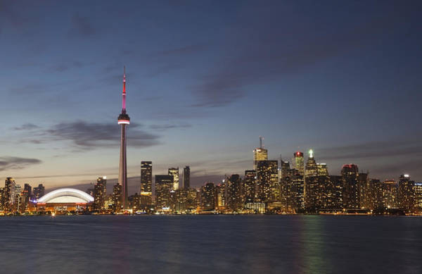 High Water Mark Photograph - View Over Lake Ontario Of The Downtown by Mark Thomas