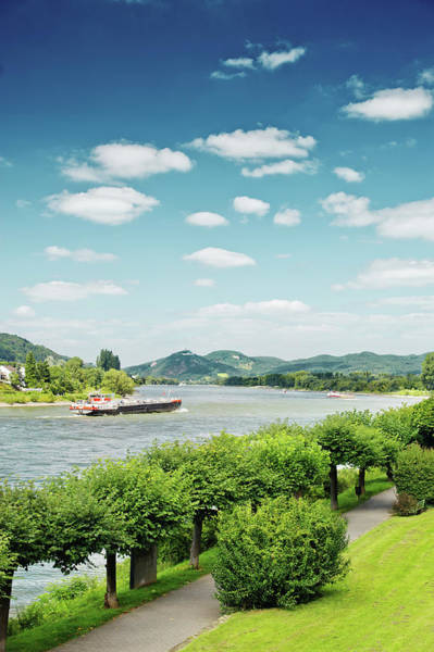 Rhine River Photograph - View Over River Rhine by Elisabeth Schmitt