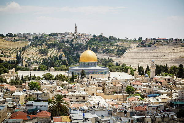 Jerusalem Photograph - View Over The Old City With The Dome Of by Yadid Levy / Robertharding