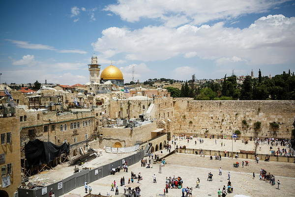 The Past Photograph - View Over The Western Wall Wailing Wall by Yadid Levy / Robertharding