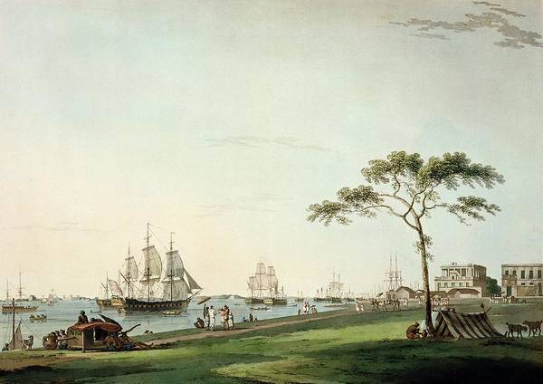 India Drawing - View Taken On The Esplanade, Calcutta by Thomas Daniell
