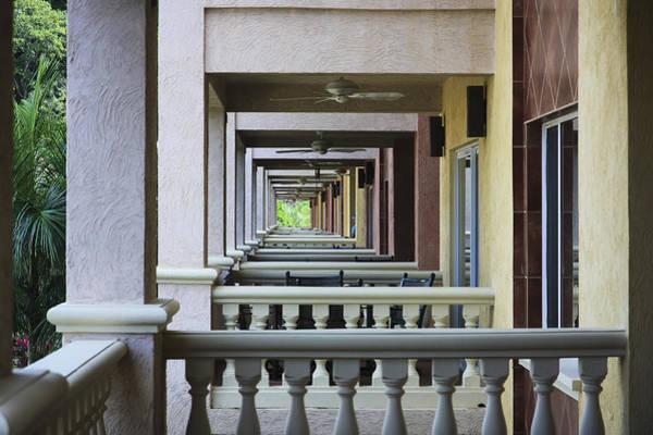 View Through Balconys Art Print