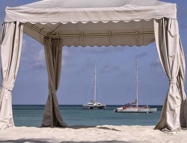 Photograph - View Through The Beach Tent by Gary Slawsky