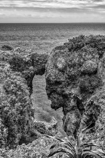 Wall Art - Photograph - View Through The Crack - Bw by Christopher Holmes