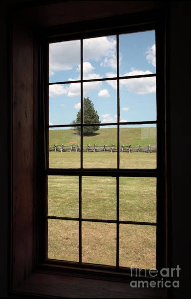 Photograph - View Through Window At The Stone House In Manassas by William Kuta